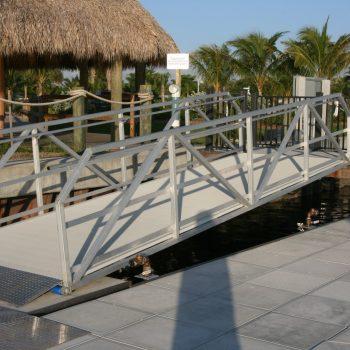 Ada gangway handrails, toe rail, 2 line rails