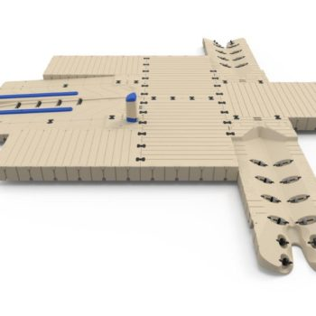 Dock with 2 PWC Ports and Boat Port-A-Main
