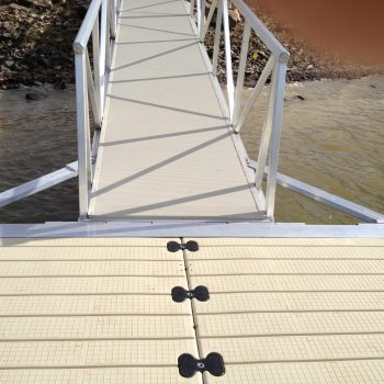 EZ Dock Texas installation side brace for wahoo gangway