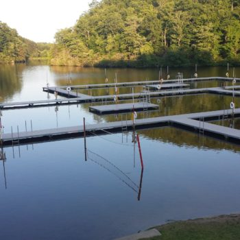 Raven knob camp dock full pond